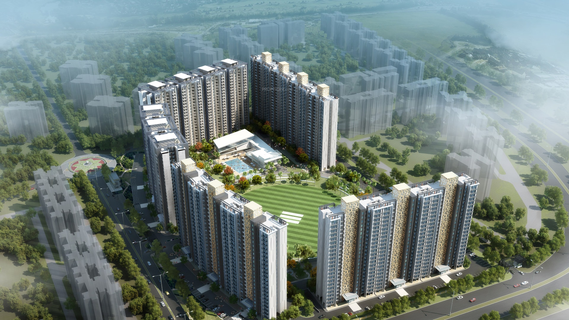 2 BHK + 2T Apartment in Eldeco Live by the Greens